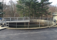 Chain Link Safety Fence at Water Treatment Plant