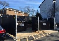 Duel Dumpster Enclosure