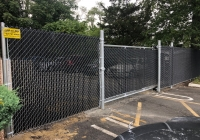 Cantilever Gate and Chain Link Fence