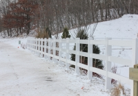 White PVC Split Rail 2