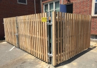 Cedar Board on Board Dumpster Enclosure