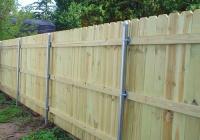 Wood Fence on Metal Posts