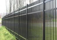 Black Aluminum Municipal Fence