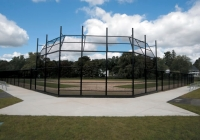 Black Chain Link Baseball Back Stop System