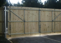 Wood Gate on Steel Frame and Posts