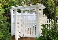 PVC Pergola and Spaced Picket Fence