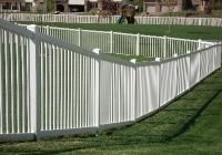 White PVC Picket Fence