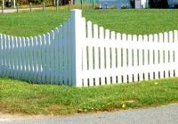 White PVC corner_fence