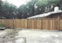 Cedar Privacy Dowel Construction Cross Top