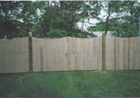 Cedar Scallop Double Drive Gates