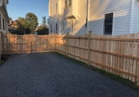 Custom Spaced Dowel Construction Cedar Fence