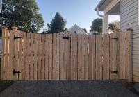 Custom Spaced Dowel Construction Cedar Gates