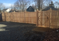 Custom Spaced Picket Cedar Fence