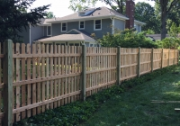 Custom Wood Space Picket Fence