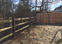 Split Rail Fence with Cedar Board on Board Fence