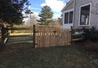 Split Rail Fence with Cedar Picket Gates