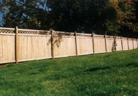 WHITE CEDAR TONGUE AND GROOVE FENCE WITH LATTICE TOP