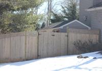 Wood Solid Lattice Top Fence