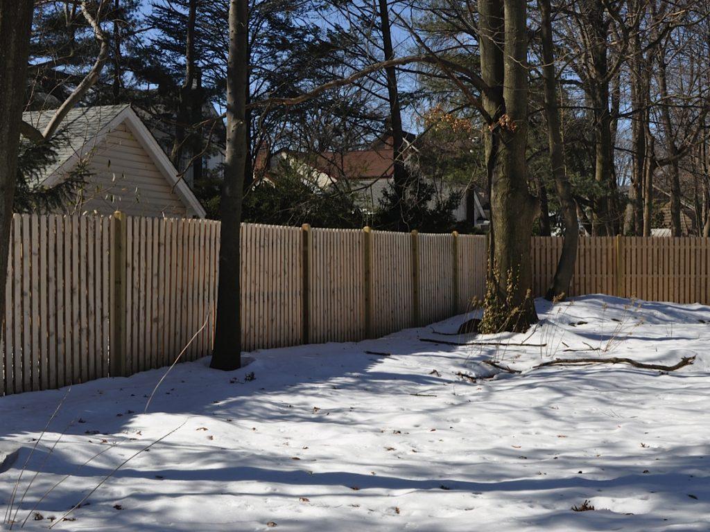 Cedar Board on Board Fence