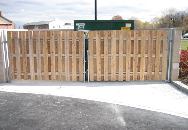 Cedar Board on Board Garbage Enclosure
