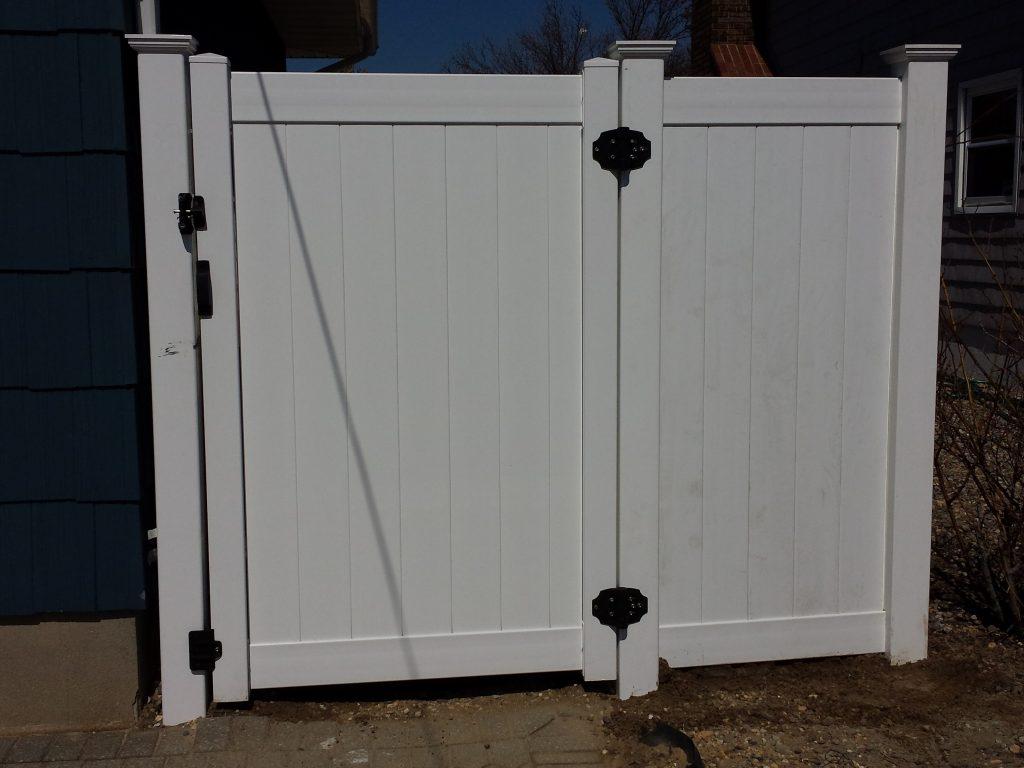 White PVC Fence Gate