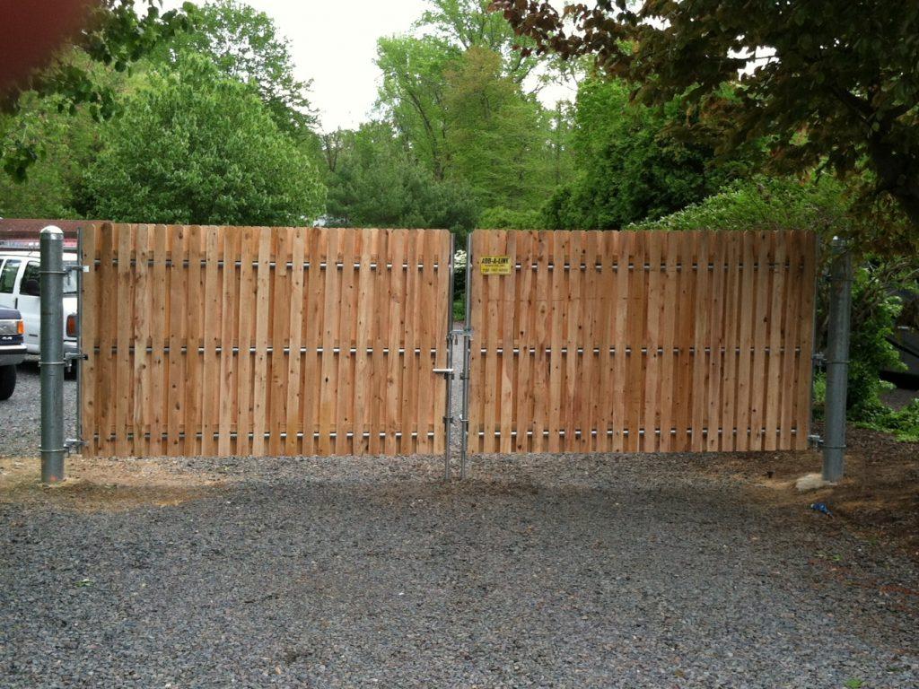 Wood Gates on Metal Frames
