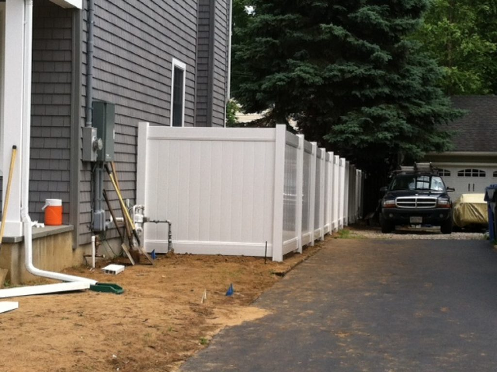 Solid White PVC Fence