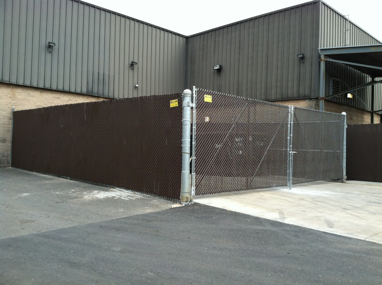 Large Dumpster Enclosure