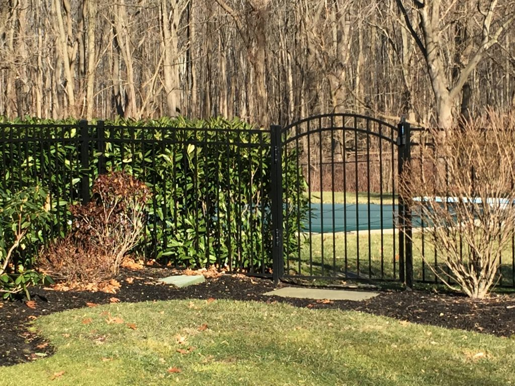 Black Aluminum Arch Gate