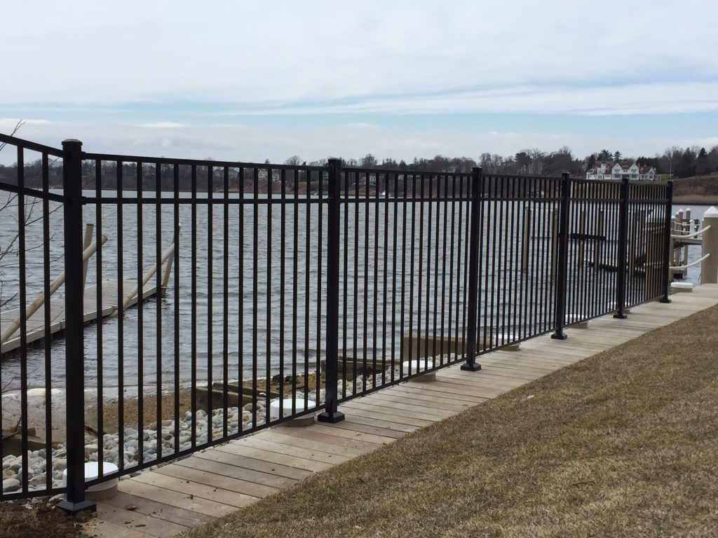 Aluminum Fence Installed on a Deck