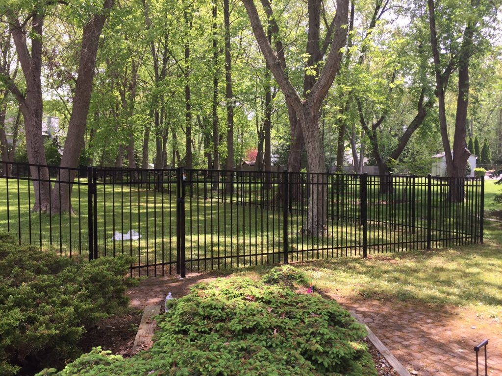 3 Rail Black Aluminum Fence
