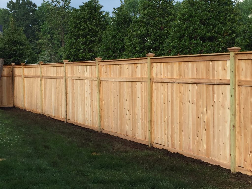 Cedar Tongue and Groove Fence with Caps