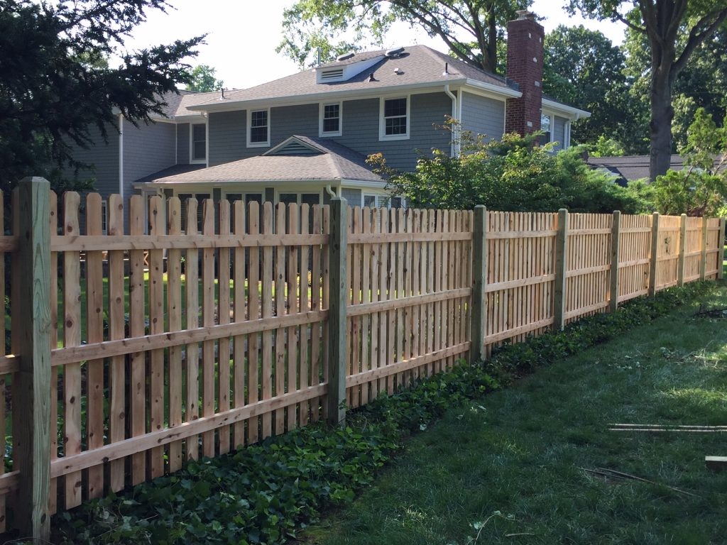 Custom Cedar Spaced Picket Fence