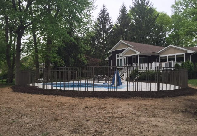 Bronze Aluminum Pool Fence