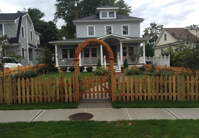 Arbor and Picket Fence