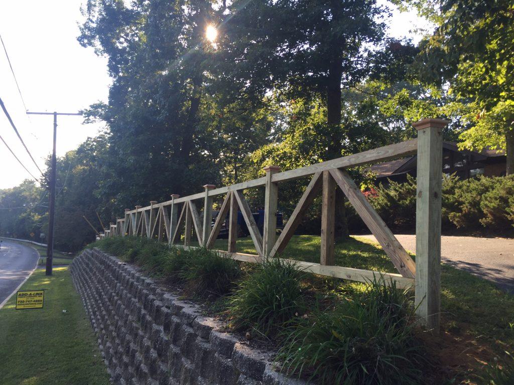 Custom Post and Rail Fence