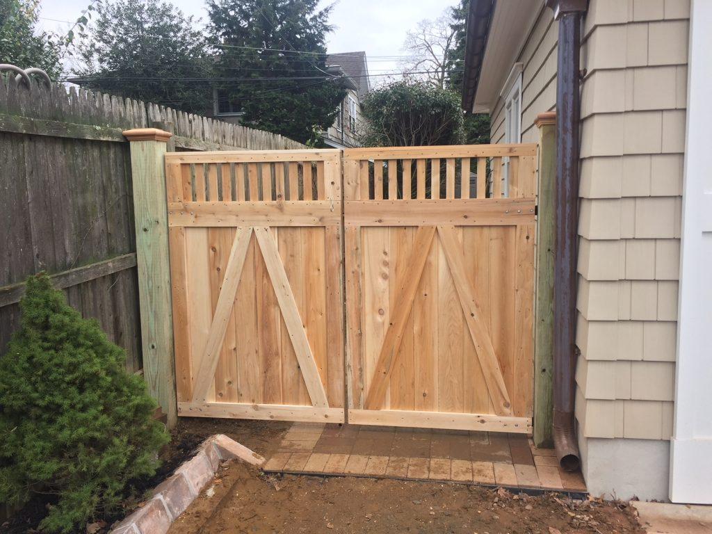 Custom Cedar Spindle Top Double Gates