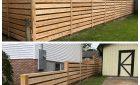 California Style Horizontal Cedar Fence