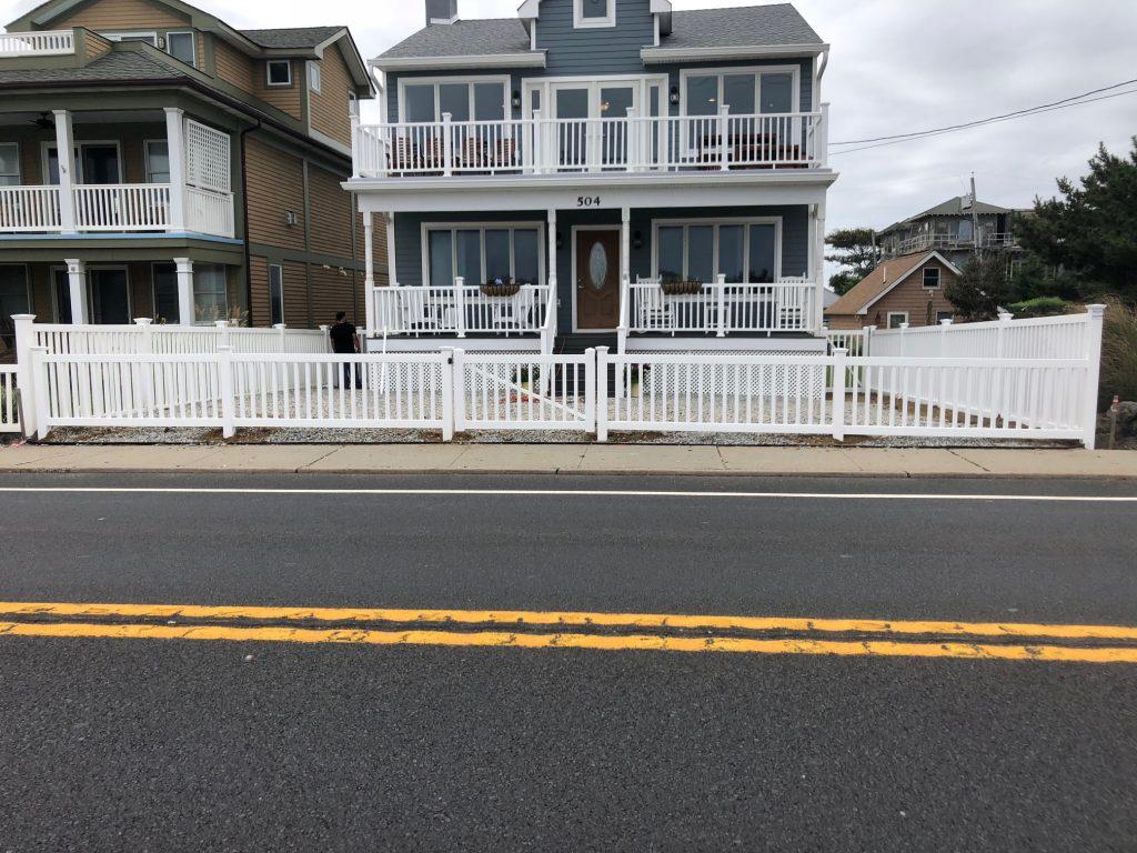 Modern Picket White PVC Fence