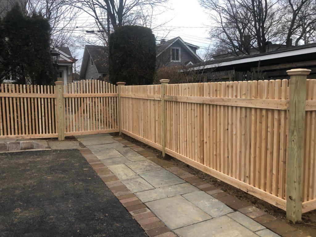 Classic Spindle Cedar Fence