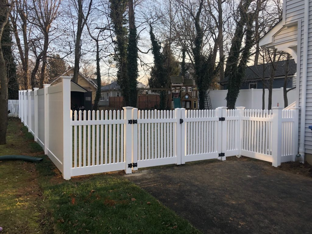 White PVC Picket and Solid Fence