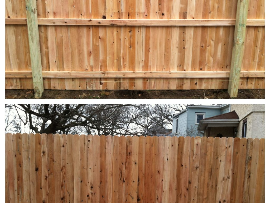 Custom Board Cedar Fence