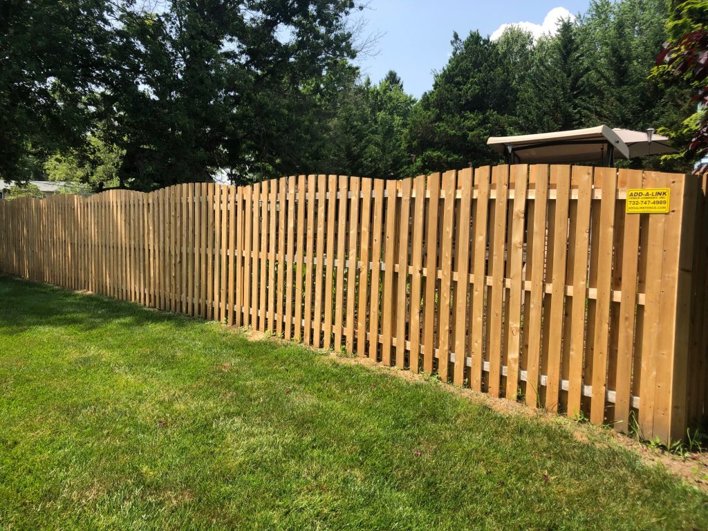 Cedar Convex Shadow Box Fence