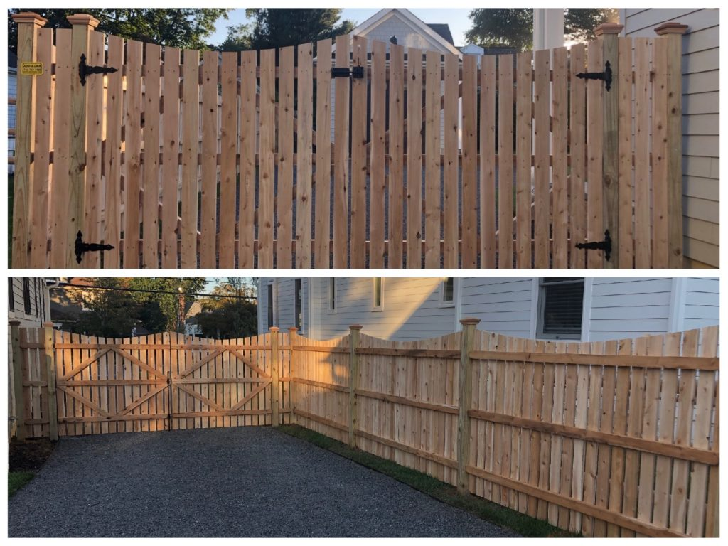 Custom Spaced Dowel Construction Cedar Gate and Fence