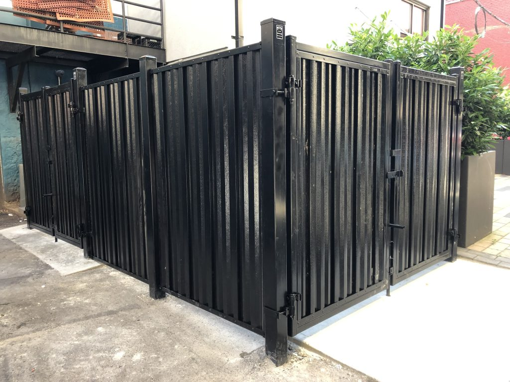 Steel Privacy Panel Dumpster Enclosure