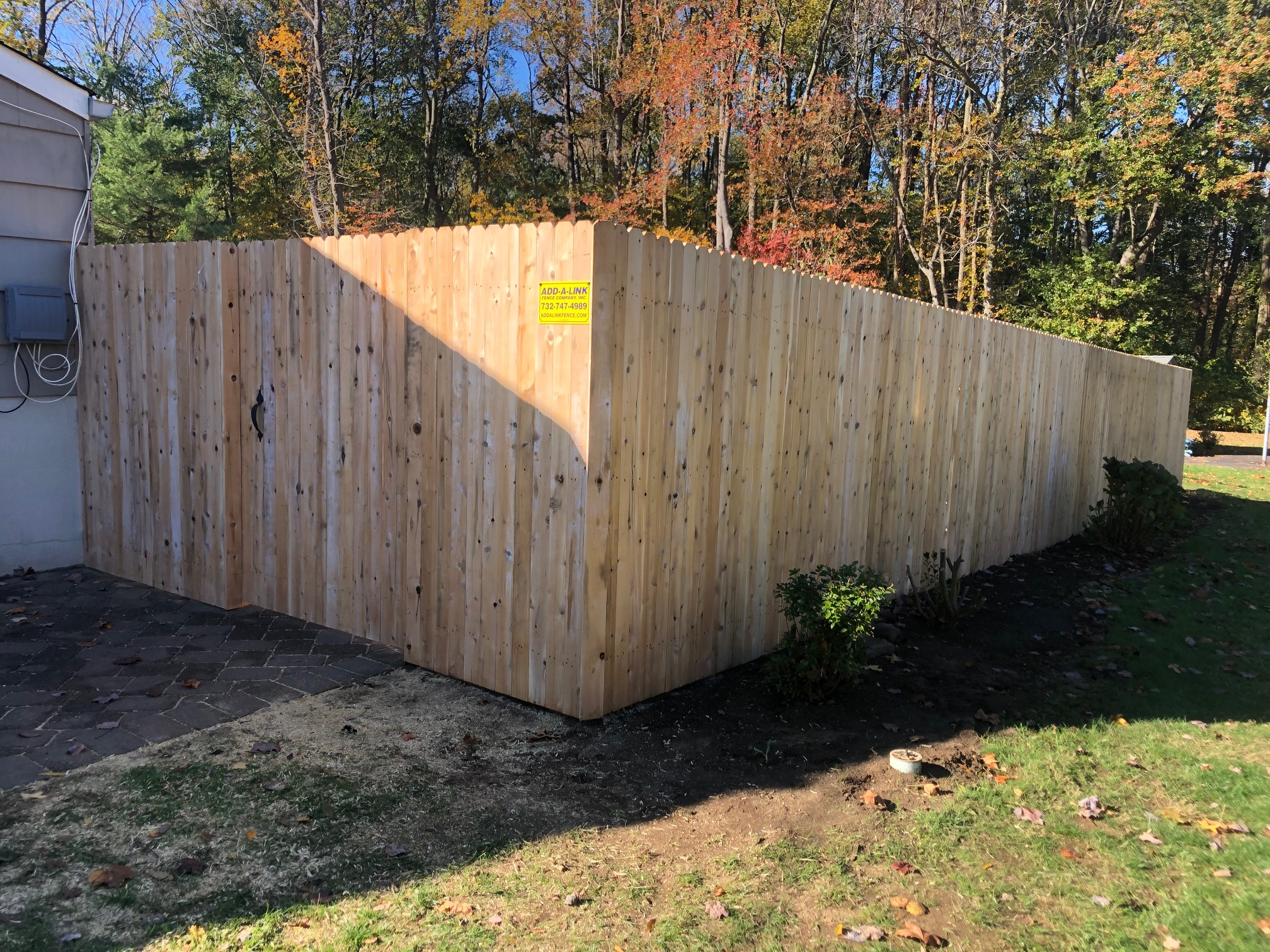 Cedar Custom Board Fence