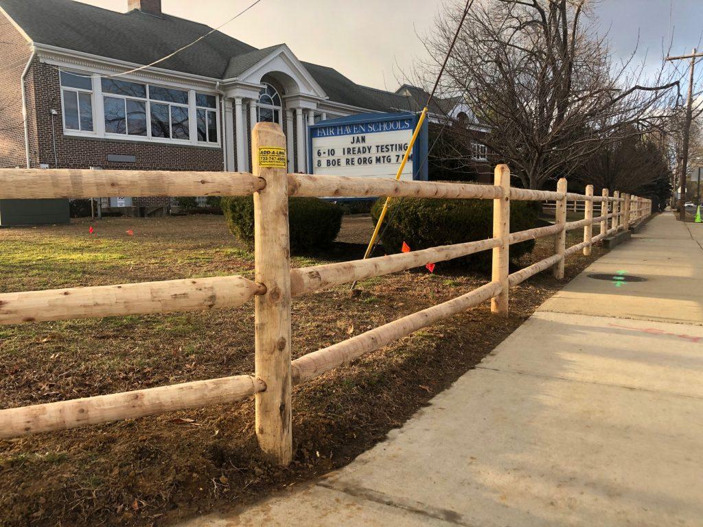 Cedar Post and Rail Fence