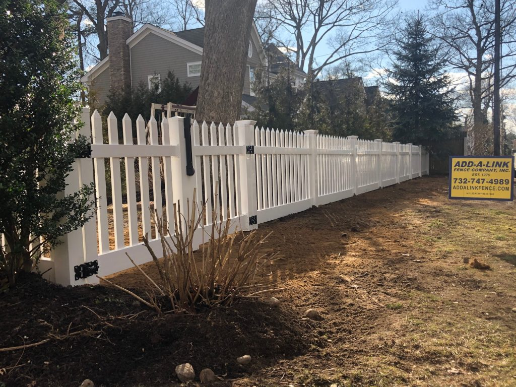 White Spaced Picket PVC Fence