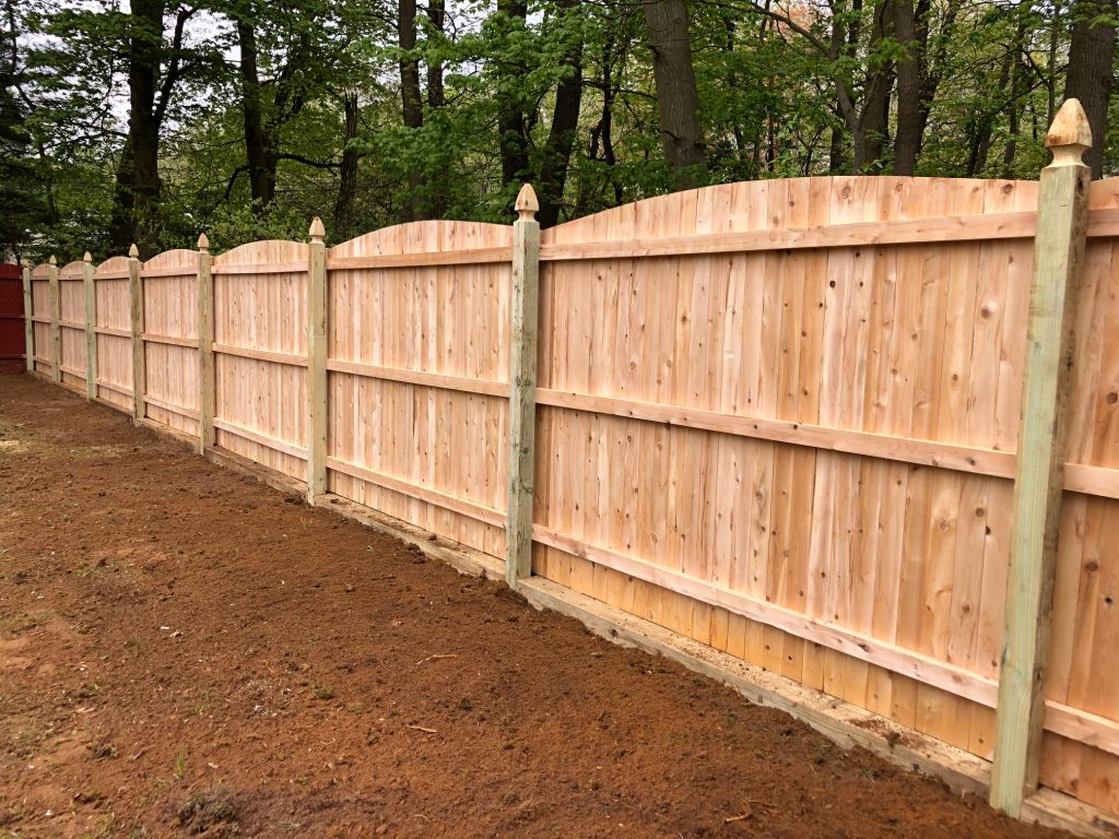Beautiful Northern White Cedar Fence with Gothic Point Posts