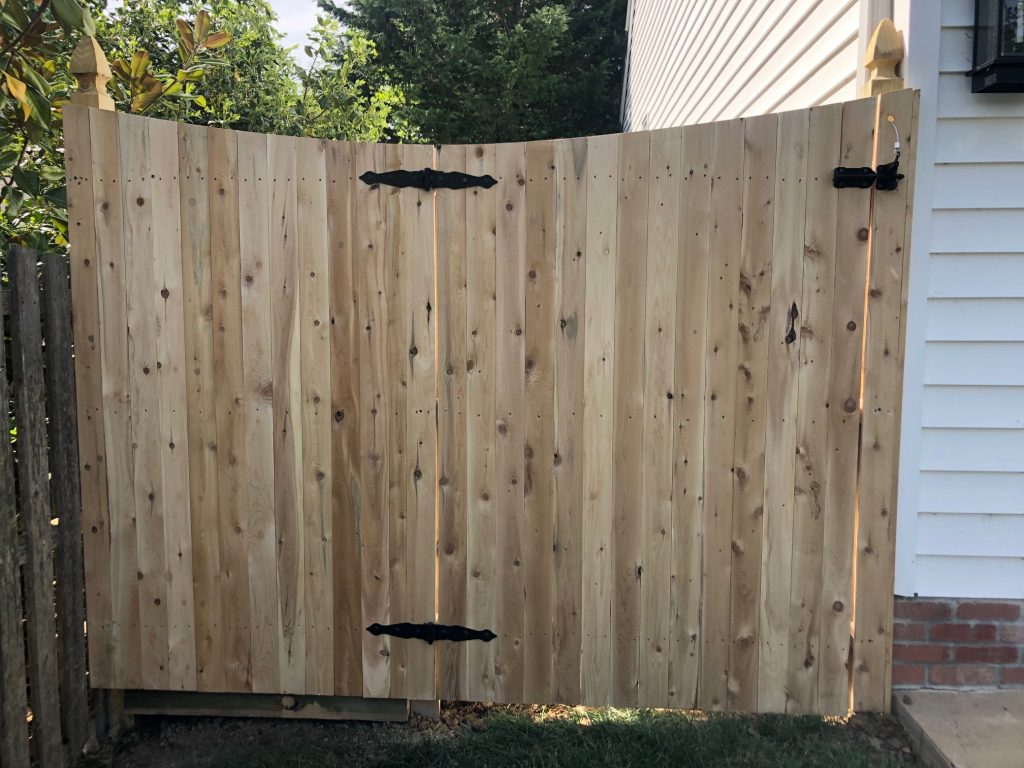 Swept away with this cedar gate and fence section combination